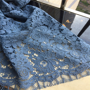 wholesale nave blue beaded sequined lace fabric stock