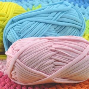 Polyester cotton spaghetti yarn, cloth ribbon yarn, polyester strip yarn