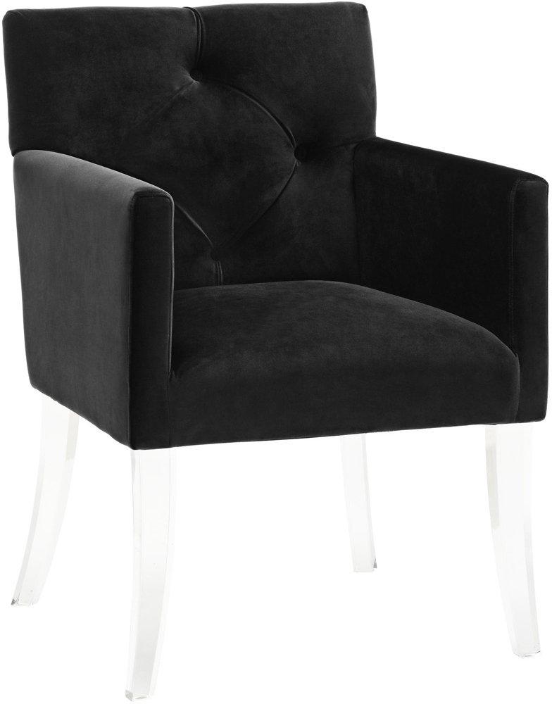 Get Quotations · Lafayette Black Velvet And Acrylic Armchair