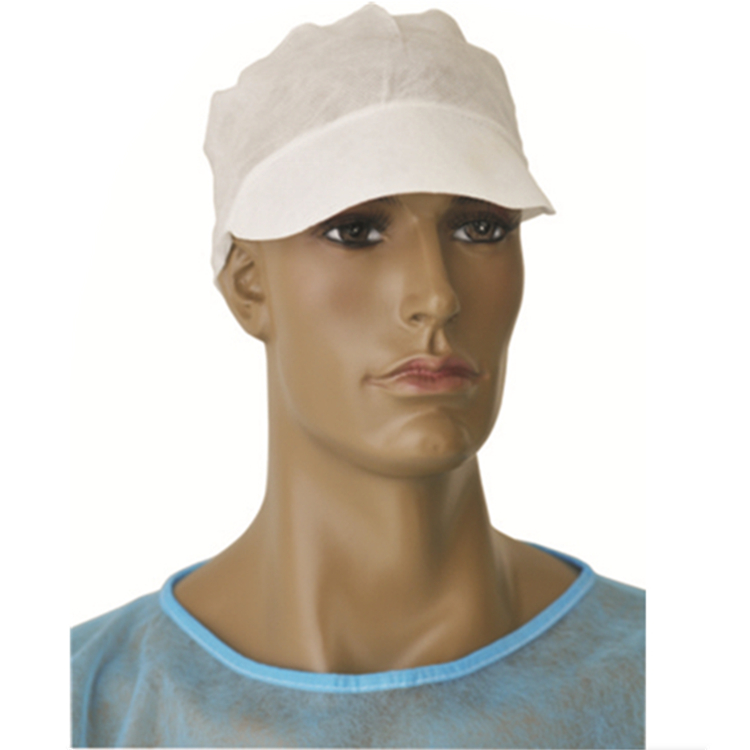 Disposable Nonwoven Peaked Cap, work cap:HXC-07