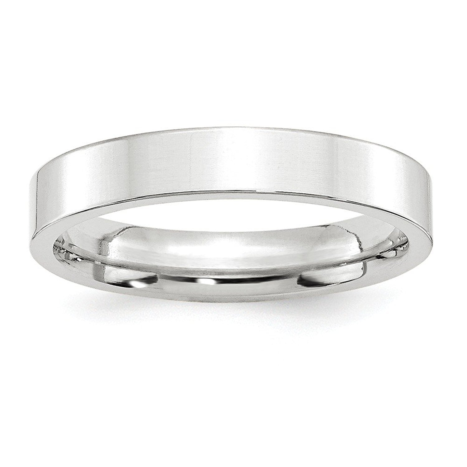 Top 10 Jewelry Gift 14KW 4mm Standard Flat Comfort Fit Band Size 10