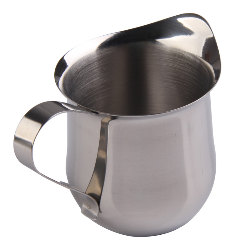 New <font><b>Home</b></font> <font><b>decor</b></font> Kitchen cooking tools Coffee Shop Small Milk Cream Waist Shape Cup Jug 5OZ Stainless Steel free shipping