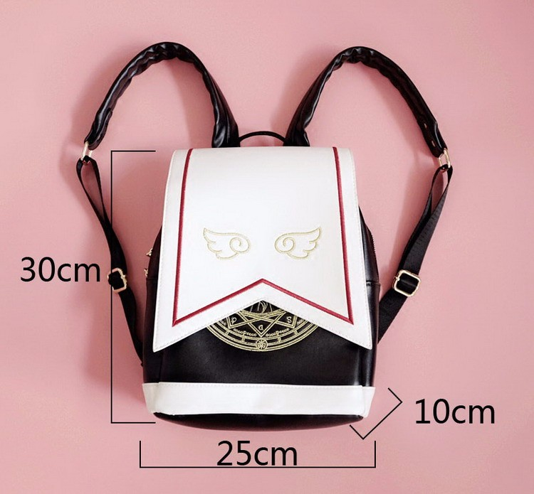 2019 Japanese Captor Sakura Wings School Backpack Magical Card Captor Sakura Wings Fashion School Bags For Girls We Take Customers As Our Gods Women's Bags