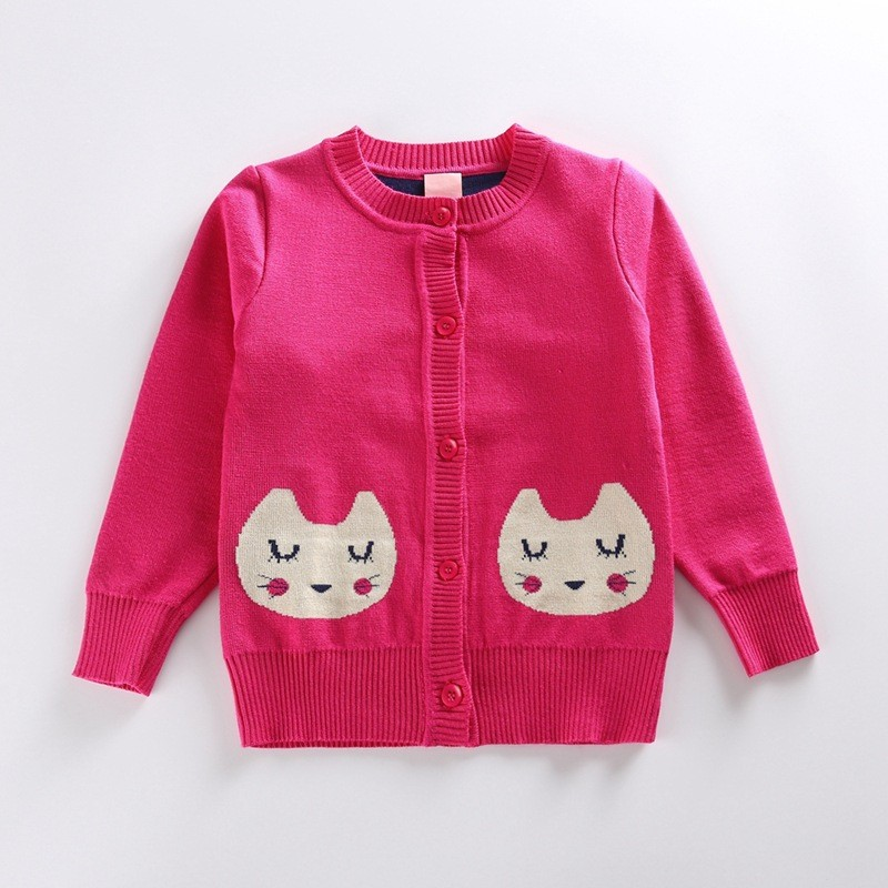 Crew Neck Knitting Cat Pattern Peruvian Alpaca Fabric Sweaters Free ...