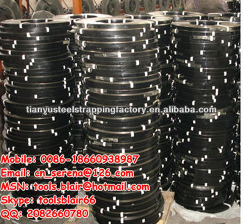 Black painted steel strip for packing wood