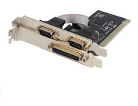 PC computer PCI TO 1 Port Printer Parallel Port LPT Female,2 Port RS232 COM Serial Port Male adapter converter card,WCH353L Chip