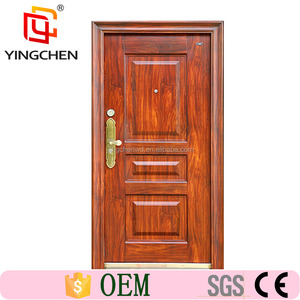 China Main Entrance Exterior Cheap Steel Security Door Design