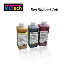 Vivid color outdoor dx5 print head EcoSolvent Ink for Epson 1390 desktop solvent printer