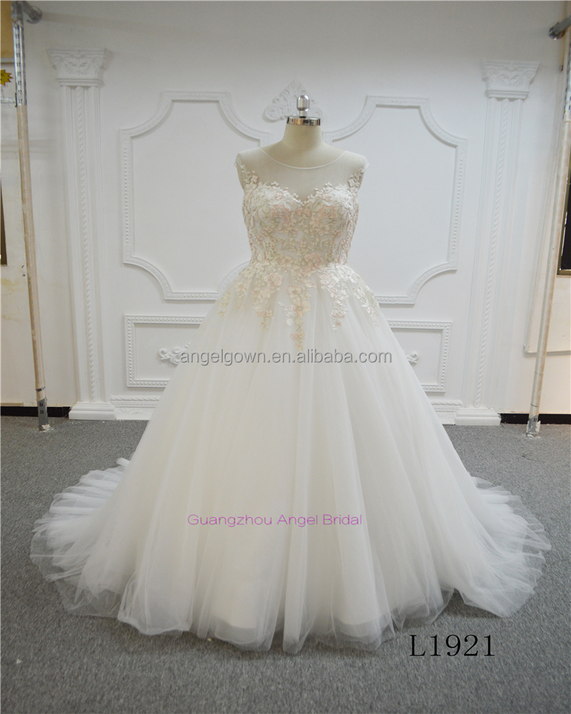White Wedding Dress With Pink Flowers White Wedding Dress With