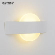 MEEROSEE Factory Direct Creative Acrylic+Iron Hotel Wall Lamps Modern Oval LED Lighting Fixture from Zhongshan supplier MD85676