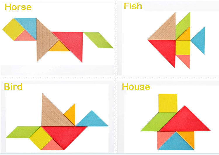 Toy Plastic Tangram - Buy High Quality Wooden Tangram,Wooden ...