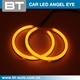 Factory Price White + Yellow Dual Color 180Mm Led Angel Eyes Halo Ring