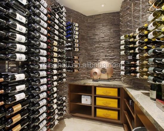 Wijnkelder design commerci le wijnrek metalen wand wijnrek buy product on for Wijnkelder ontwerp