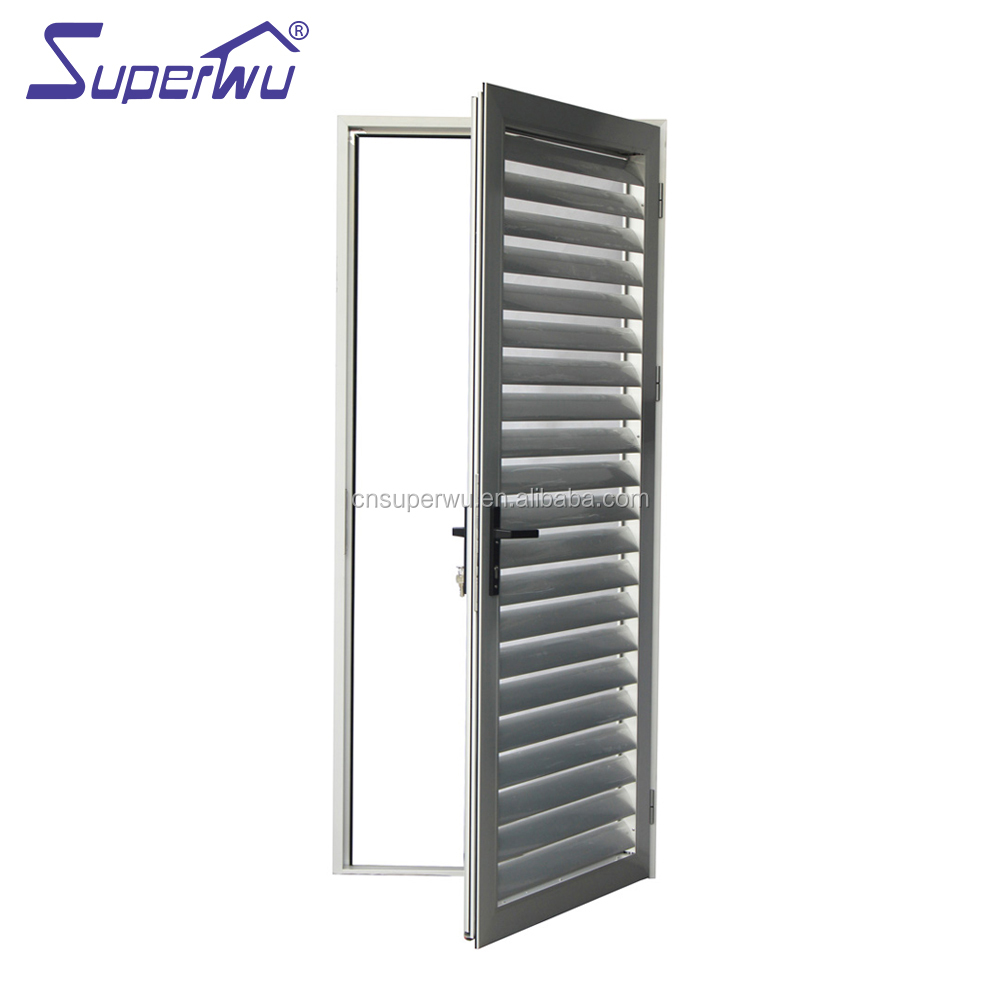 Anodized aluminium louvre hinged door for sun shade