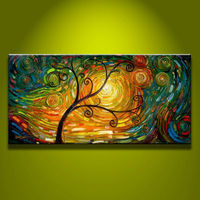 Wholesale Artist Lucky Trees Hand Painted Oil Painting