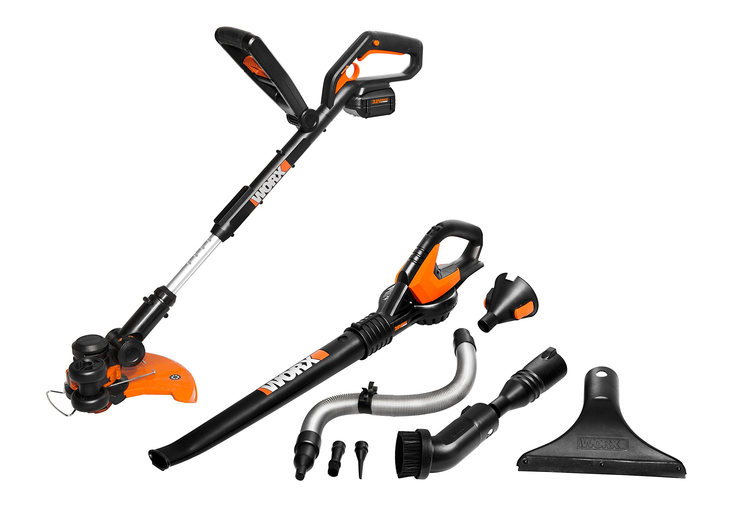 Worx WG924.1 GT 2.0 & AIR 32V Cordless String Trimmer & Leaf Blower/Sweeper Combo Kit