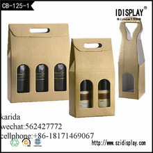 custom order paper carrier bag foldable paper packing box for wine glass