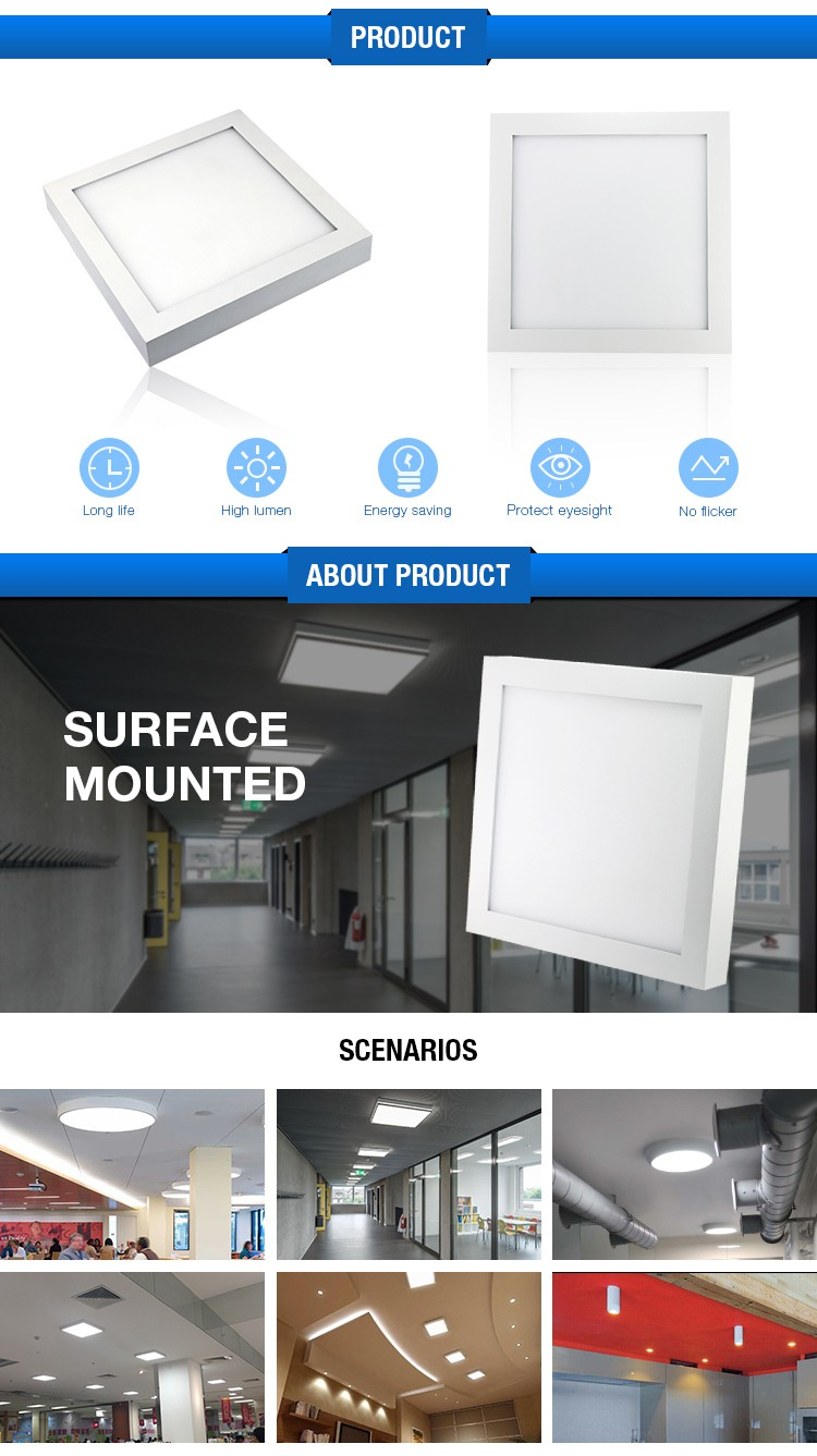 Easy To Install 15w 20w 36w Ce Rohs Surface Square Led Light ...