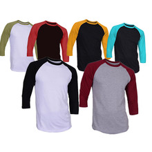 TS1703 3/4 Sleeve T Shirt Design Your Own Logo on Raglan T Shirt/Baseball T Shirt