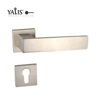 American Style Square Bronze Round Magnetic Plastic Front Door Handle