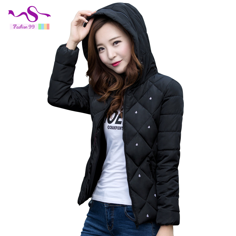 Korean parkas for women winter 2015 New fashion Slim Women printing cotton Hooded winter jacket women parkas YT82