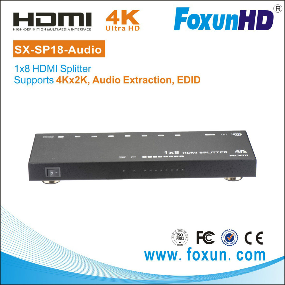 HDMI 8 way distribution splitter with audio , Version 1.3, 1.4, 2.0 for our choice