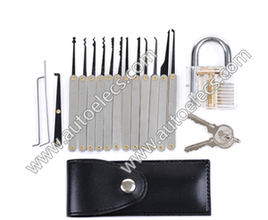 Southord 12pcs Unlocking Lock Pick Set Transparent Practice Padlocks with Key Extractor Tool Lock Pick Tools