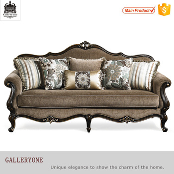 Royal Office Furniture Antique Gold Wood Frame Chesterfield Philippines Sofa