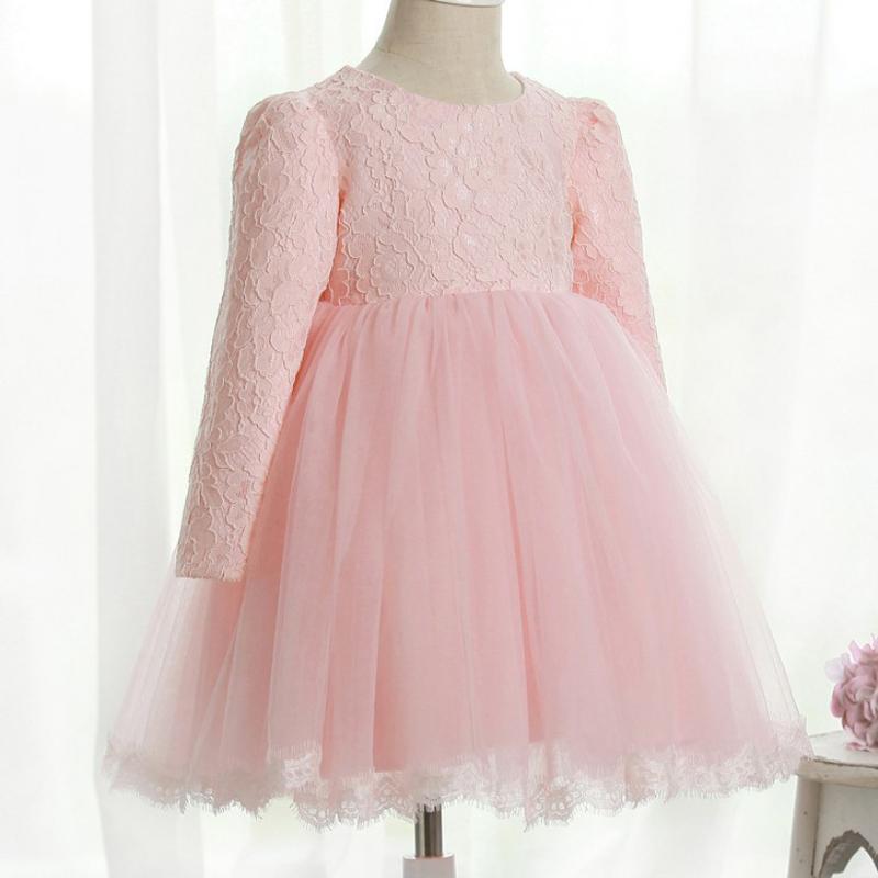 Bebé Encantador De La Princesa De Manga Larga Vestido De Fiesta ...
