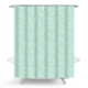 Nice Flower Design Cheap Blue PEVA Shower Curtain With Iron Eyelets