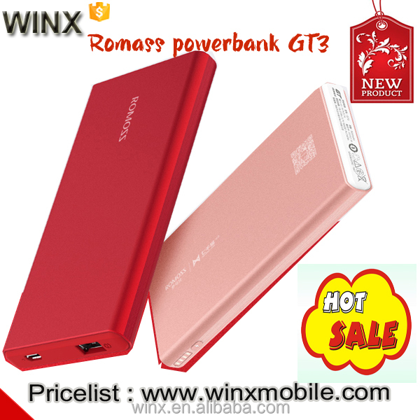 2017hot!Romoss GT3 5000mah powerbank quick charging dual USB for mobile phone battery