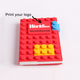 Hottest silicone DIY diary book legos A5/A6/A7 size custom Blocks Notebook School Supplies Stationery