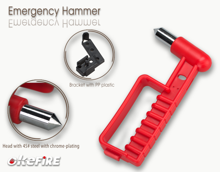 Car Emergency Glass Breaking Hammer with Seatbelt Cutter and CE Certificate