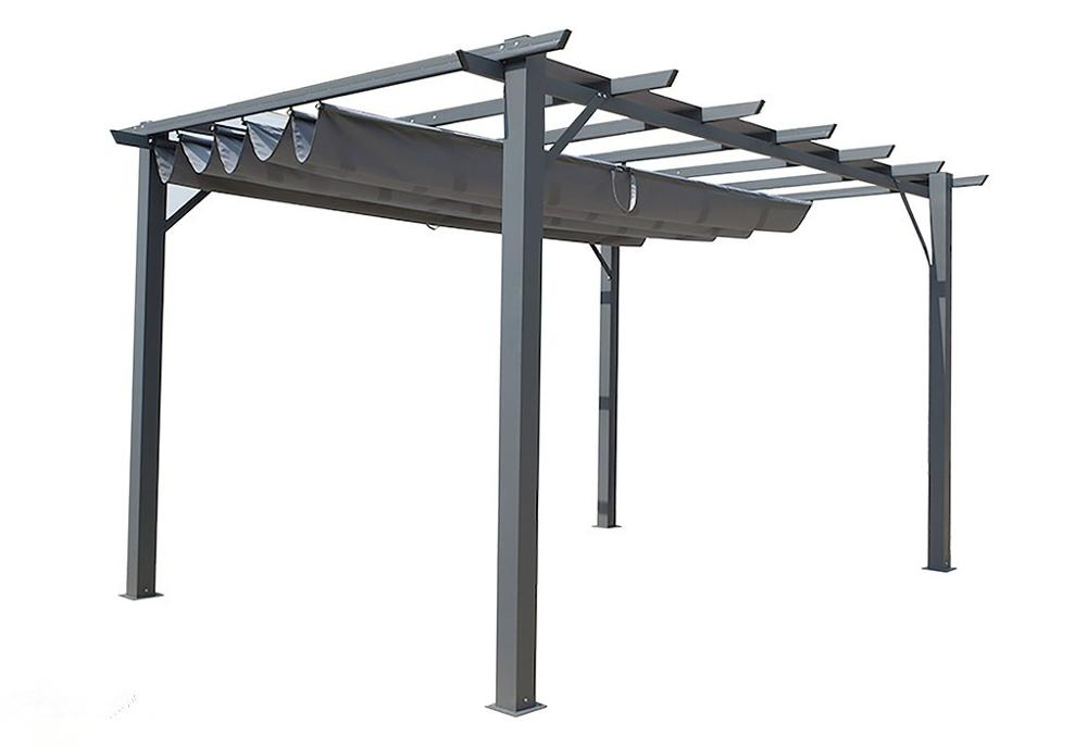 FREESTANDING PERGOLA WITH RETRACTABLE CANOPY 3M X 4M