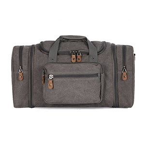 Wholesale custom durable outdoor canvas duffle bag large sport travel duffel gym bag
