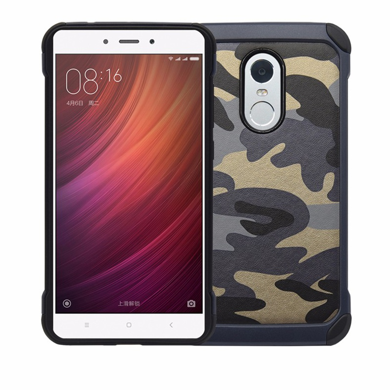 Camouflage Hybrid Inner TPU Layer Hard PC Phone Shell Case Cover Protective Cellphone Back for Xiaomi for Redmi Note 4 5.5 Inch