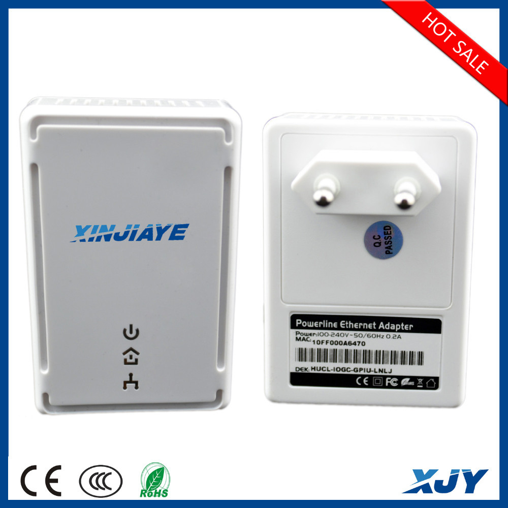 XINJIAYE EU PLC Plug 200Mbps Adapter/Bridge Powerline Ethernet Twin Pack