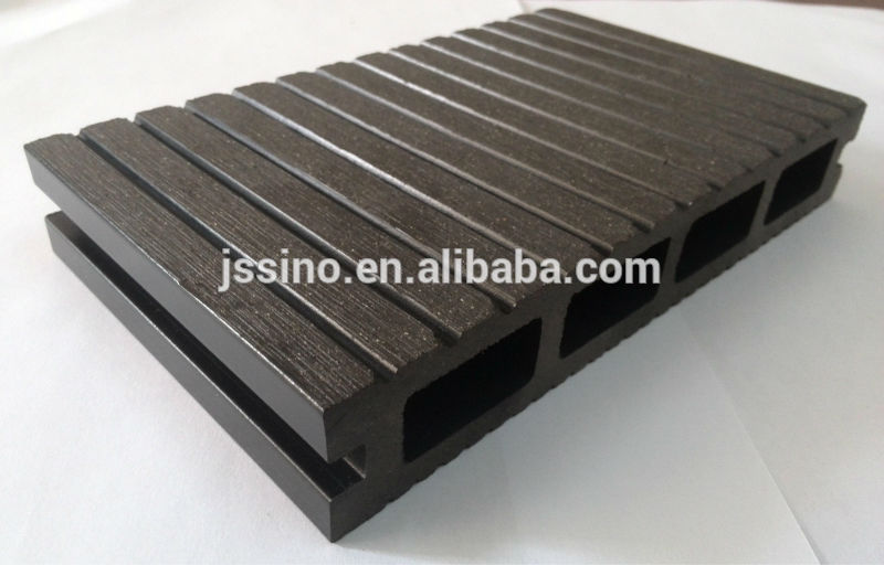 Waterproof Extruded Wood Plastic Composite Decking, Faux Wood Decking, Patio  Flooring