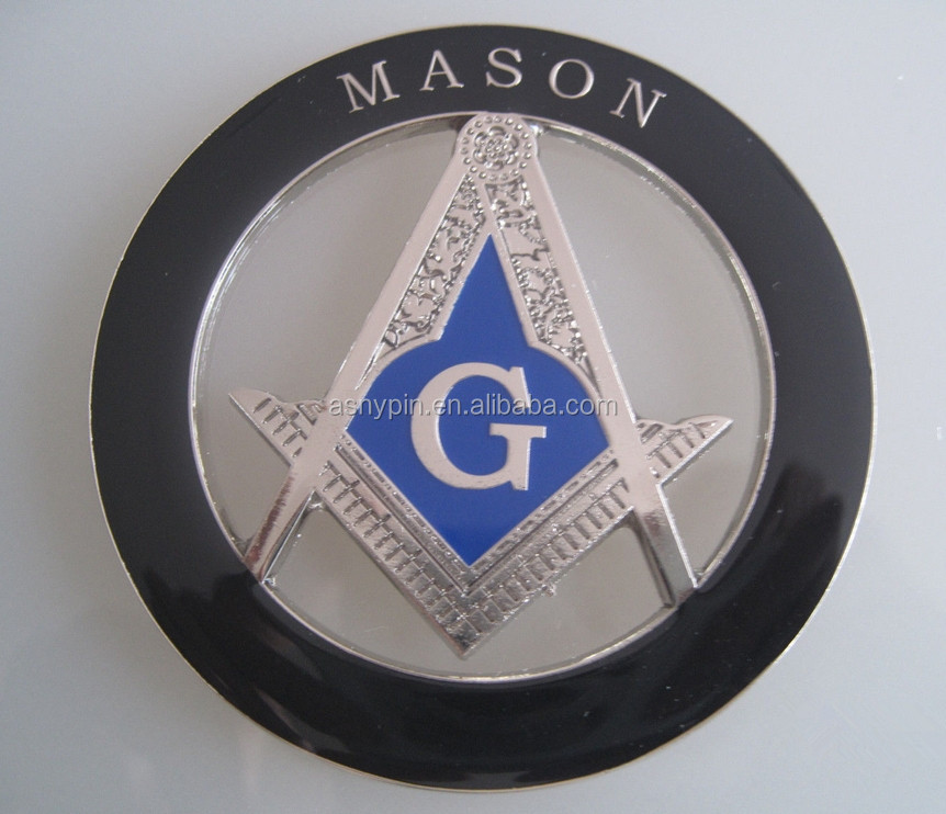 Freemasonry Blue Lodge Masonic Love For Arts Auto Rear Emblem ...
