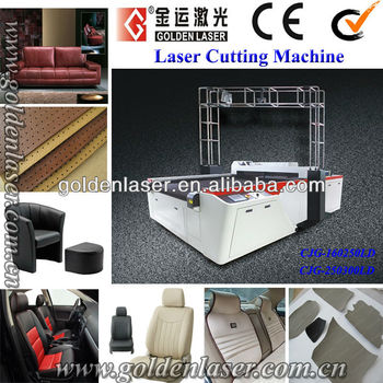 Genuine Leather Laser Cutter Machine With Cad System And