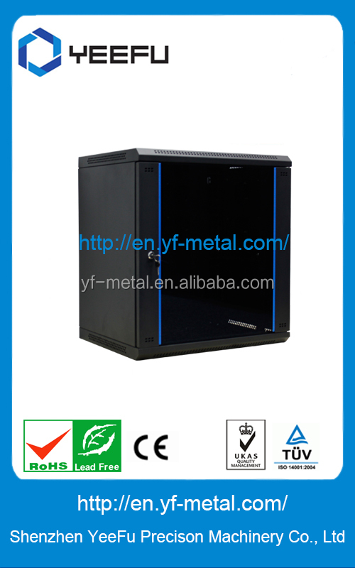 flat package single section network cabinet wall mount box