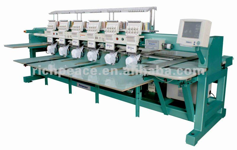 Richpeace 6 heads Cap Tubular Embroidery Machine