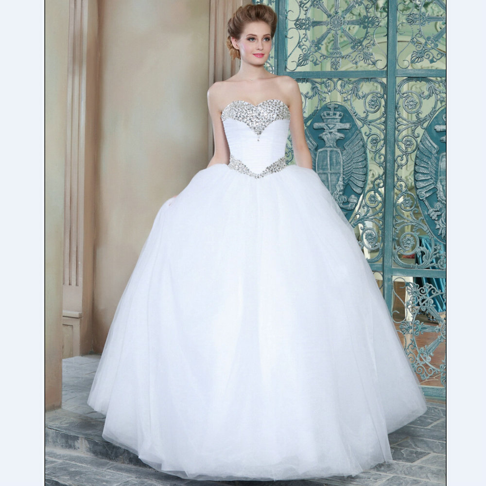 Wedding Dresses Ball Gown Princess: Ball Gown Wedding Dresses 2015 MRW01 Puffy Wedding Gowns