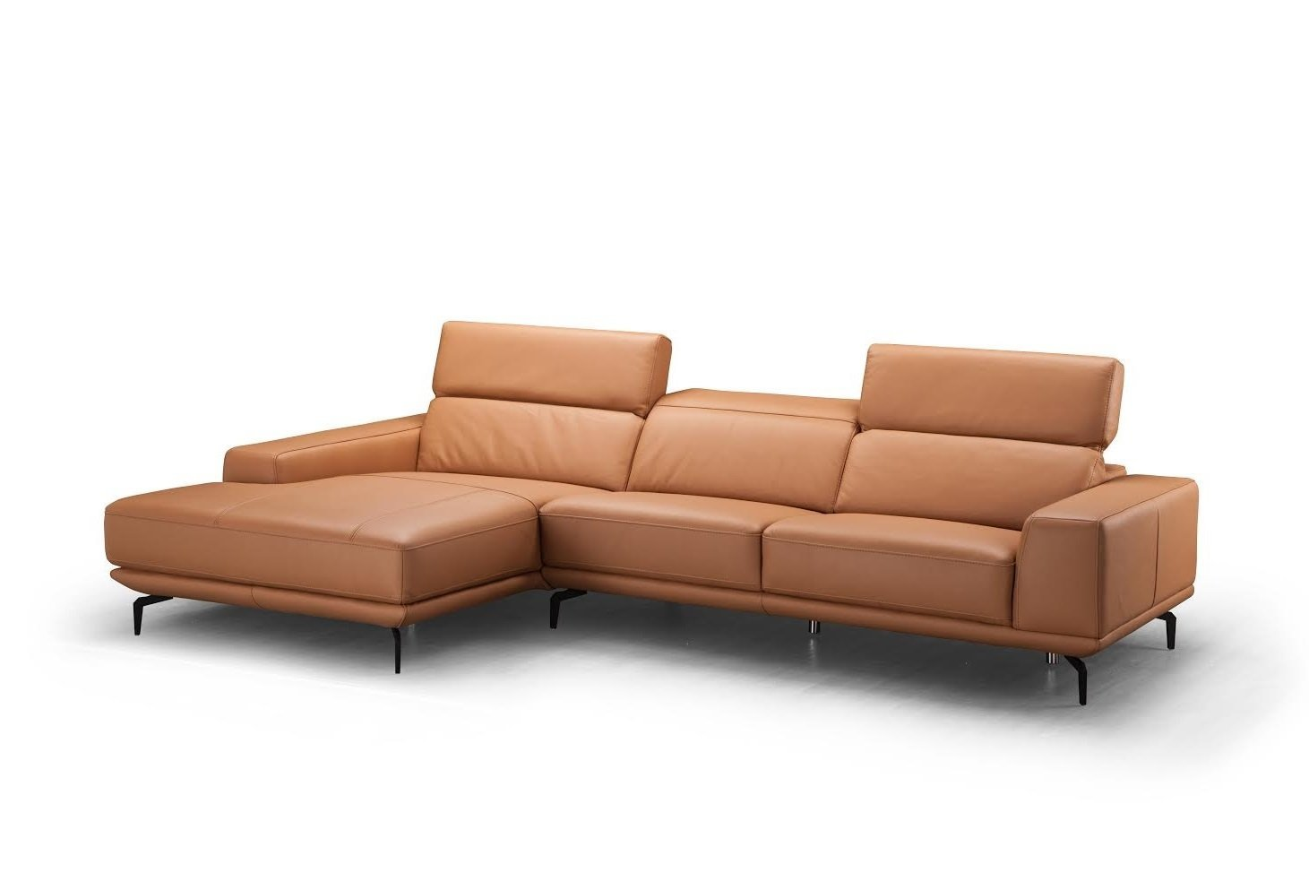 J and M Furniture 1790891-LHFC Lima Lhf Chaise Premium Leather Sectional