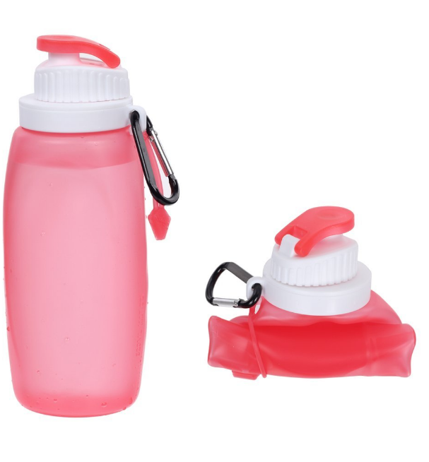 kean Outdoor Travel Sport Drinking Bpa Free Collapsible Silicone Foldable Water Bottle