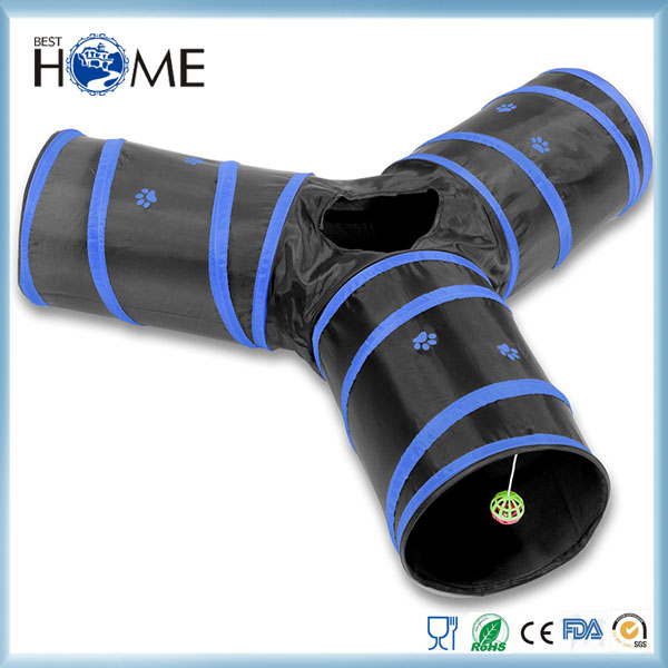 Wholesale Pet Toy Dog Tube Foldable 3 Way Cat Tunnel for Fun