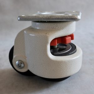 SS Ivory Hue Die Cast Aluminum Height 600kg Load Adjustable Leveling Caster Wheel Nut For Open-Ended Wrench Leveling Caster