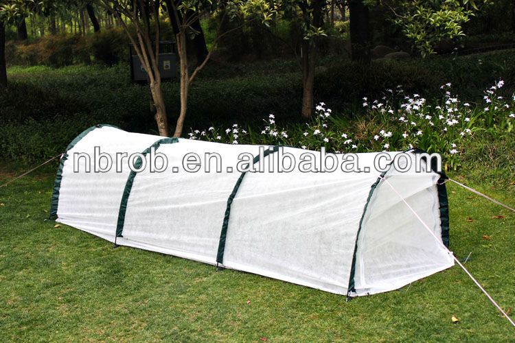 Garden/Agricultural plastic tunnel greenhouse with mesh shade