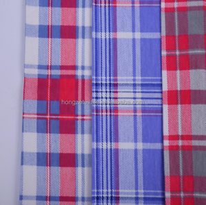 custom check 150gsm brushed flannel plaid 100% cotton fabric