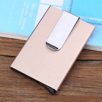 men metal automatic popup credit card folder multifunctional card wallet minimalist slim rfid business card holder - Business Card Holder For Men